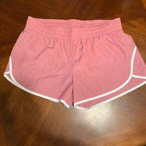 Pink athletic shorts size large